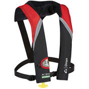 Onyx AO1332M, A-24 In-Sign Automatic Inflatable Life Jacket, Adult, Red, 150 Newton