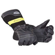 Mullion 2MZXL9 Firefighter Gloves, SOLAS, Black, XL