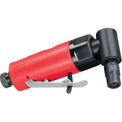 """Dynabrade 18010 .2HP Autobrade Red Right Angle Die Grinder, 20,000 RPM, Rear Exhaust, 1/4"""" Collet"""