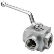 "Dynamic DB3L-20-SAE, High Pressure Ball Valve 1 5/8-12"" Thread 4500 PSI"