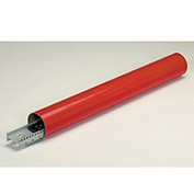 "Mailing Tube With Cap - Color Coded, 9""L x 2"" Diameter x 0.06 Wall Thickness, Red, 50 Pack"