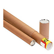 "Telescoping Tube, 48""L x 3"" Diameter x 0.125 Wall Thickness, Kraft, 24 Pack"
