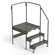 "EGA Steel Custom Work Platform, 36"" W x 39"" D x 33"" H, 3-Step, Gray, 500 lb. Cap. - CW7-33-3-3"