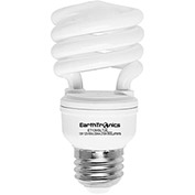 Earthtronics CF13DL1BT2E T2 Mini Spiral CFL Bulb, 13W, 6500K, 860 Lumens