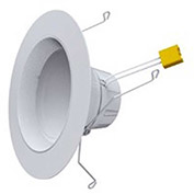 Earthtronics 10348 LED Recessed Ceiling Fixture Retrofit Kit, 12W, 3000K, 800 Lumens, 90 Deg.