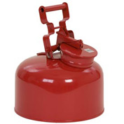 Eagle Disposal Can Galvanized - Red - 2.5 Gallons, 1423