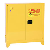 Eagle Flammable Liquid Tower™ Safety Cabinet with Manual Close - 30 Gallon