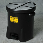 Eagle Oily Waste Can, 10 Gallon Black - 935-FLBK