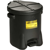 Eagle Oily Waste Can, 14 Gallon Black - 937-FLBK