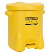 Eagle Poly Waste Can - Yellow with Foot Lever 14 Gallon