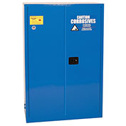 Eagle Poly Acid & Corrosive Cabinet CRA4510 with Self Close - 45 Gallon, Blue
