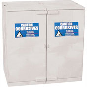 Eagle Modular Quik-Assembly Poly Acid & Corrosive Cabinet with Manual Close - 24 Gallon White