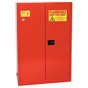 Eagle Paint/Ink Safety Cabinet with Self Close BiFold - 60 Gallon Red