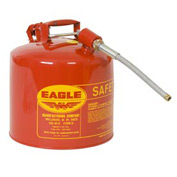 "Eagle Type II Safety Can with 5/8"" Spout - 5 Gallons - Red, U2-51-SX5"