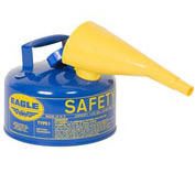 Eagle Type I Safety Can - 1 Gallon with Funnel - Blue, UI-10-FSB