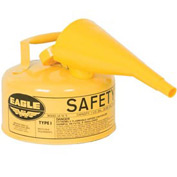 Eagle Type I Safety Can - 1 Gallon with Funnel - Yellow, UI-10-FSY