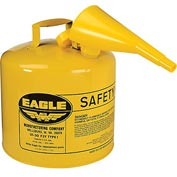 Eagle Type I Safety Can - 5 Gallon with Funnel - Yellow, UI-50-FSY