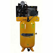EMAX EP05V080I1, 5 HP, Two-Stage Piston Compressor, 80 Gallon, Vertical, 175 PSI, 1-Phase 208-230V