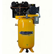 EMAX EP07V080V1, 7.5 HP, Two-Stage Piston Compressor, 80 Gallon, Vertical, 175 PSI, 1-Phase 208-230V