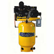 EMAX EP10V120Y3, 10HP, Two-Stage Piston Compressor, 120 Gal, Vertical, 175 PSI, 3-Phase 208-230/460V