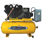 EMAX EP20H120V3, 20HP, Two-Stage Piston Compressor, 120 Gal, Vertical, 175 PSI, 3-Phase 208-230/460V