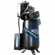 EMAX ES07V080V1, 7.5HP, Two-Stage Comp., Silent Air, 80 Gallon, Vertical, 175 PSI, 1-Phase 208-230V