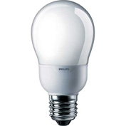 Philips, 419788, Fluorescent Light Bulb, 9 Watt, A-Shape, Warm White