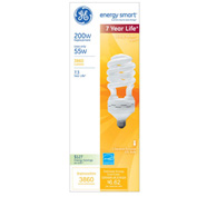 GE, 78965, Light Bulb, 55 Watt, Twist, Soft White
