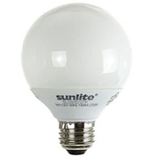 Sunlite, S05345, Fluorescent Colored Globes Bulb, 9 Watt