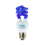 Sunlite, S05431, Compact Fluorescent Light Bulb, 11 Watt, Mini Twist, Blue