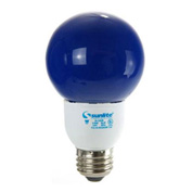 Sunlite, S05650, Fluorescent Colored Globes Bulb, 9 Watt, Globe, Blue