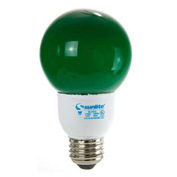 Sunlite, S05660, Fluorescent Colored Globes Bulb, 9 Watt, Globe, Green