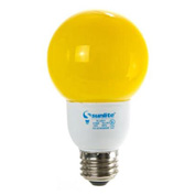Sunlite, S05690, Fluorescent Colored Globes Bulb, 9 Watt, Globe, Yellow