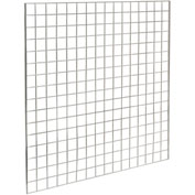 4'W X 4'H - Grid Panel - Chrome - Pkg Qty 3