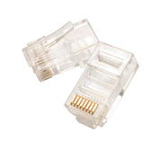 Eclipse Tools 702-066 Modular Plug 8P8C - Flat Cable, Clear, 6 uin Gold