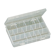 "Eclipse 900-041 - 24 Adjustable Plastic Compartment Box w/Dividers 8""L x 5-1/4""W 1-1/2""H"