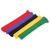 "Eclipse Tools 900-098-AST Hook & Loop Cable Tie Assortment, 8""L x 1/2""W, Assorted"