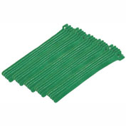 "Eclipse Tools 900-098-GN Cable Tie, Hook Tape, 8""L x 1/2""W, Green, 25/Pk"