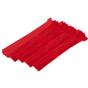 "Eclipse Tools 900-098-RD Cable Tie, Hook Tape, 8""L x 1/2""W, Red, 25/Pk"