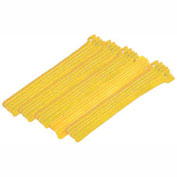 """Eclipse Tools 900-098-YL Cable Tie, Hook Tape, 8""""L x 1/2""""W, Yello""""W, 25/Pk"""