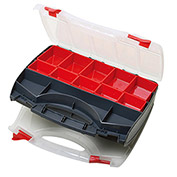 "Eclipse SB-3428SB - Adjustable 8 to 31 Compartment Storage Case, Dual Sided 13-1/2""Lx11""Wx -1/2""H"
