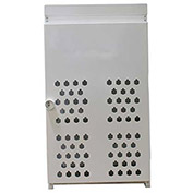 "18 Capacity, 20 Lbs. Cylinders, Stamped Steel Gas Cylinder Cage, 30""W x 44""D x 68""H, White"