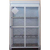 "12 Capacity, 30 Lbs. Cylinders, Heavy Duty Steel Gas Cylinder Cage, 44""W x 30""D x 68""H, White"