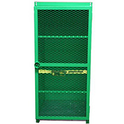 "12 Capacity, 100 Lbs. Cylinders, Heavy Duty Steel Gas Cylinder Cage, 44""W x 34""D x 72""H, Green"