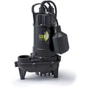 Eco-Flo ECD30W Submersible Sump Pump, Cast Iron, 3/10 HP, 2700 GPH