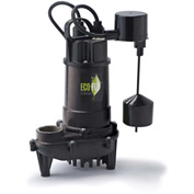 Eco-Flo ECD33V Submersible Sump Pump, Cast Iron, 1/3 HP, 3300 GPH