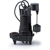 Eco-Flo REF50V Submersible Effluent Pump, Cast Iron, 1/2 HP