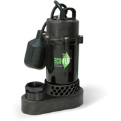 Eco-Flo SPP33W Submersible Sump Pump, Thermoplastic, 1/3 HP, 43 GPM