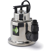 Eco-Flo SUP64 Submersible Utility Pump, Stainless Steel, Manual, 1/4 HP, 1500 GPH
