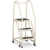 "EGA Steel Office Ladder 2-Step, 16"" Wide Vinyl Covered, Gray, 450 lb. Cap. - F011"